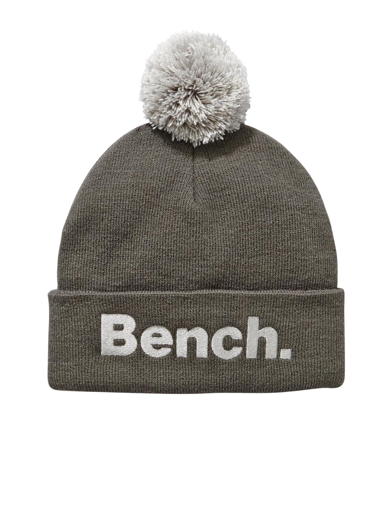 Bench Bobble Mens Beanie - Grey, Grey