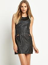 Leather Pitstop Dress