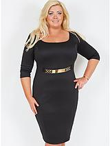 Corsica Belted Dress (Available in sizes 16-24)