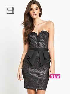 lipsy-lace-bandeau-peplum-dress