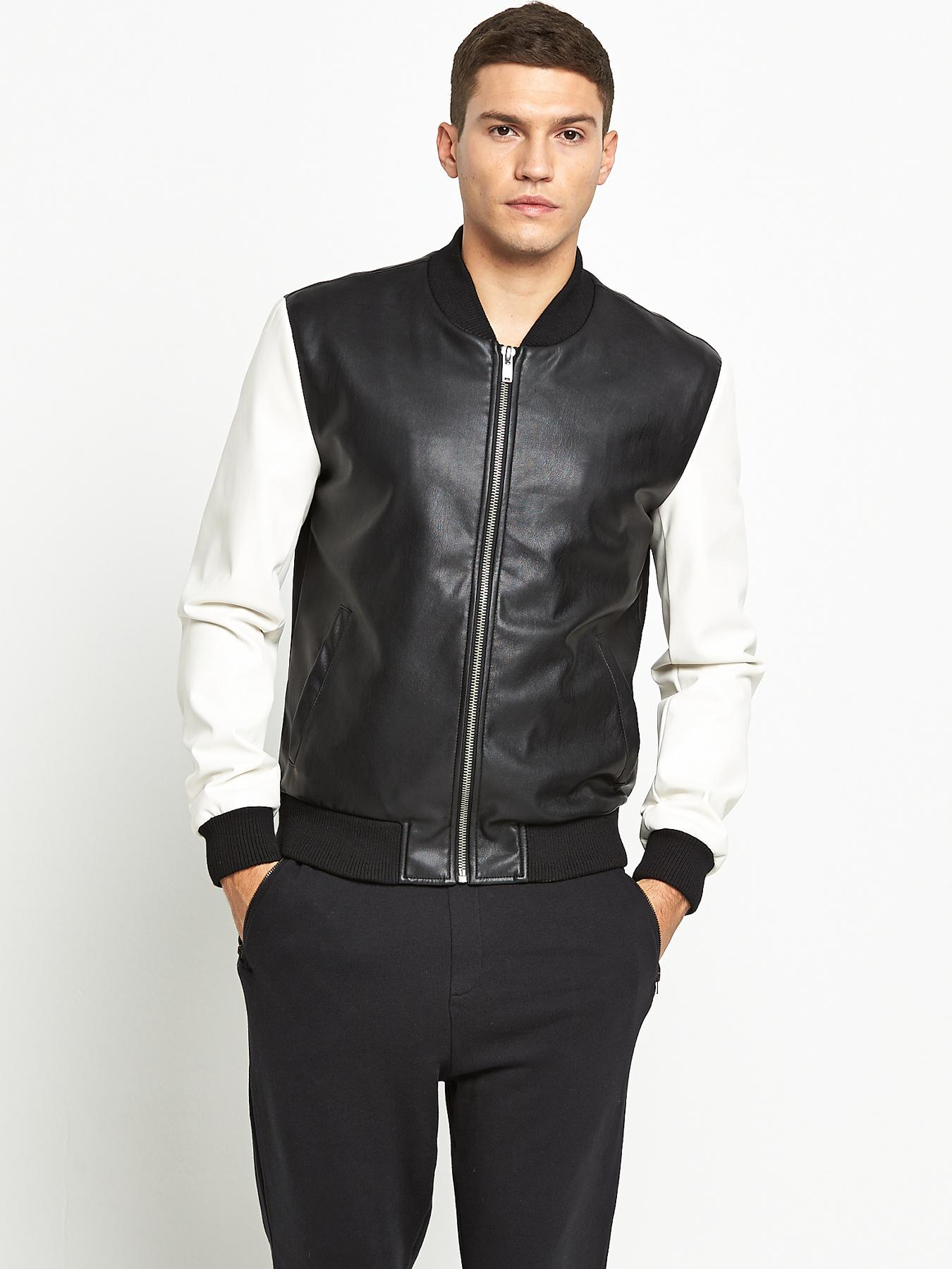 ONLY & SONS Mens Bomber Jacket - Black, Black
