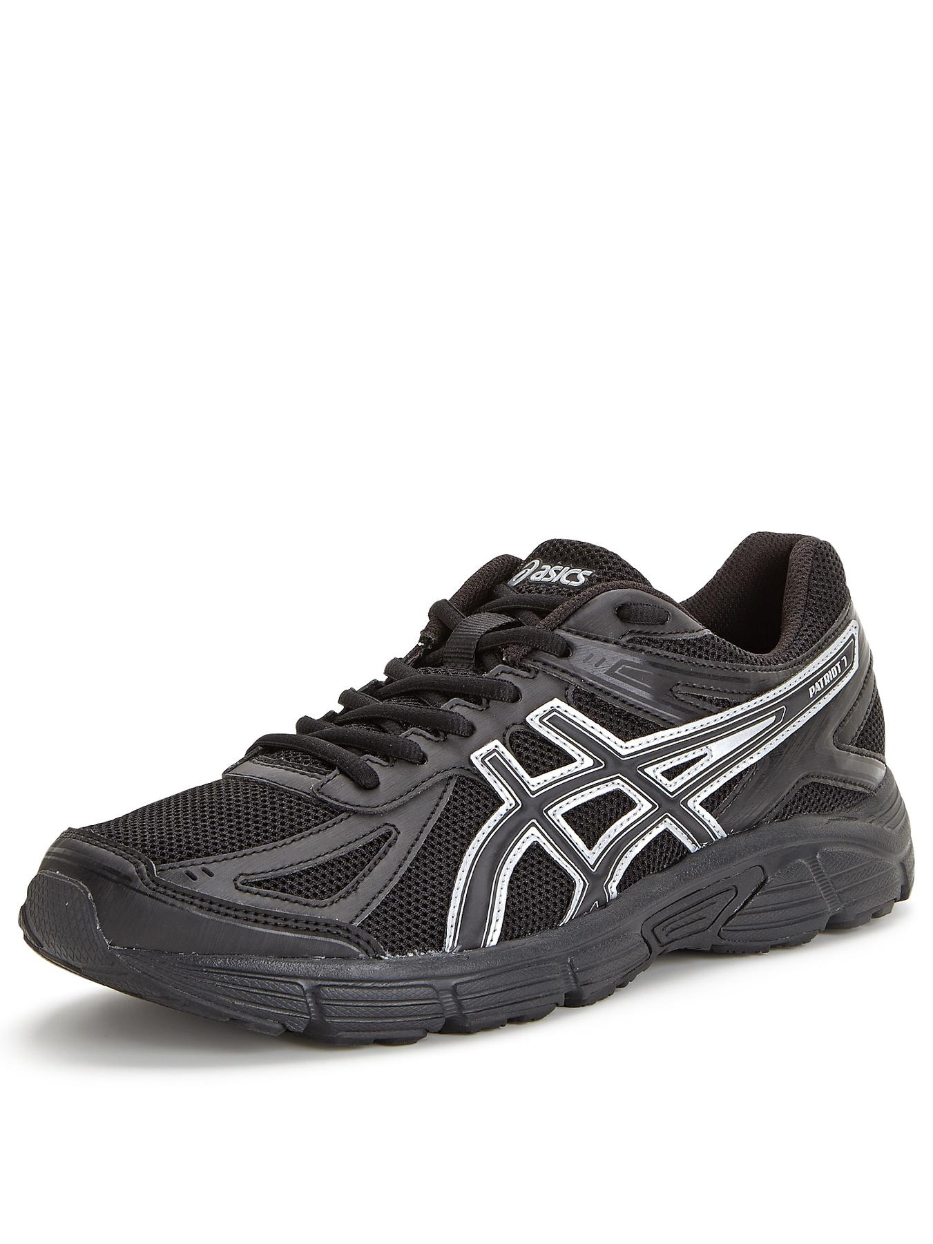 Asics Patriot 7 Mens Trainers - Black, Black