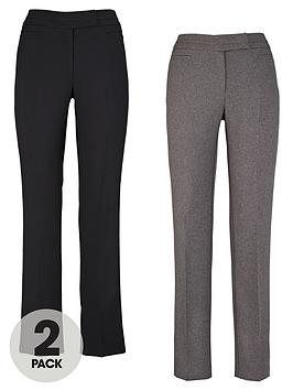 south-petite-straight-leg-smart-trousers-2-pack
