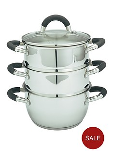 ready-steady-cook-3-tier-stainless-steel-steamer-set