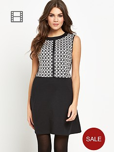 oasis-2-in-1-grid-check-dress