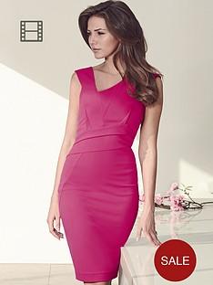 lipsy-michelle-keegan-asymmetric-pleated-dress