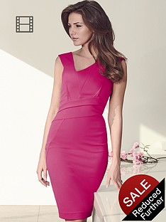 lipsy-michelle-keegan-asymmetric-pleated-dress