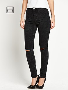 glamorous-rip-and-repair-high-waisted-skinny-jeans