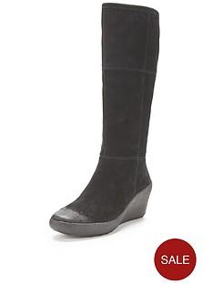 clarks-nice-jazz-suede-wedge-knee-boots