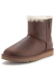 ugg-australia-classic-mini-leather-double-zip-boots