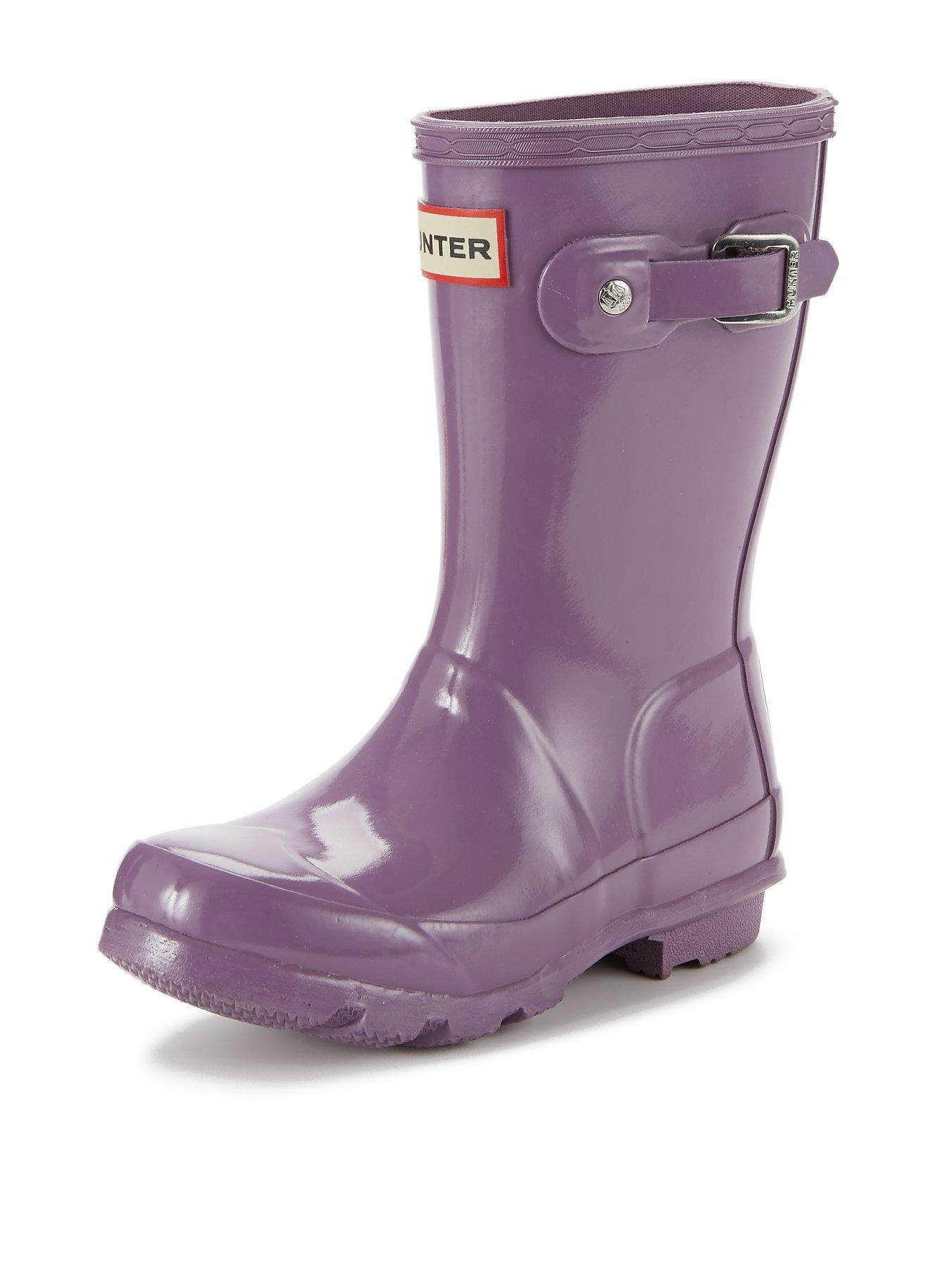 Hunter Junior Gloss Welly - Lavender, Lavender