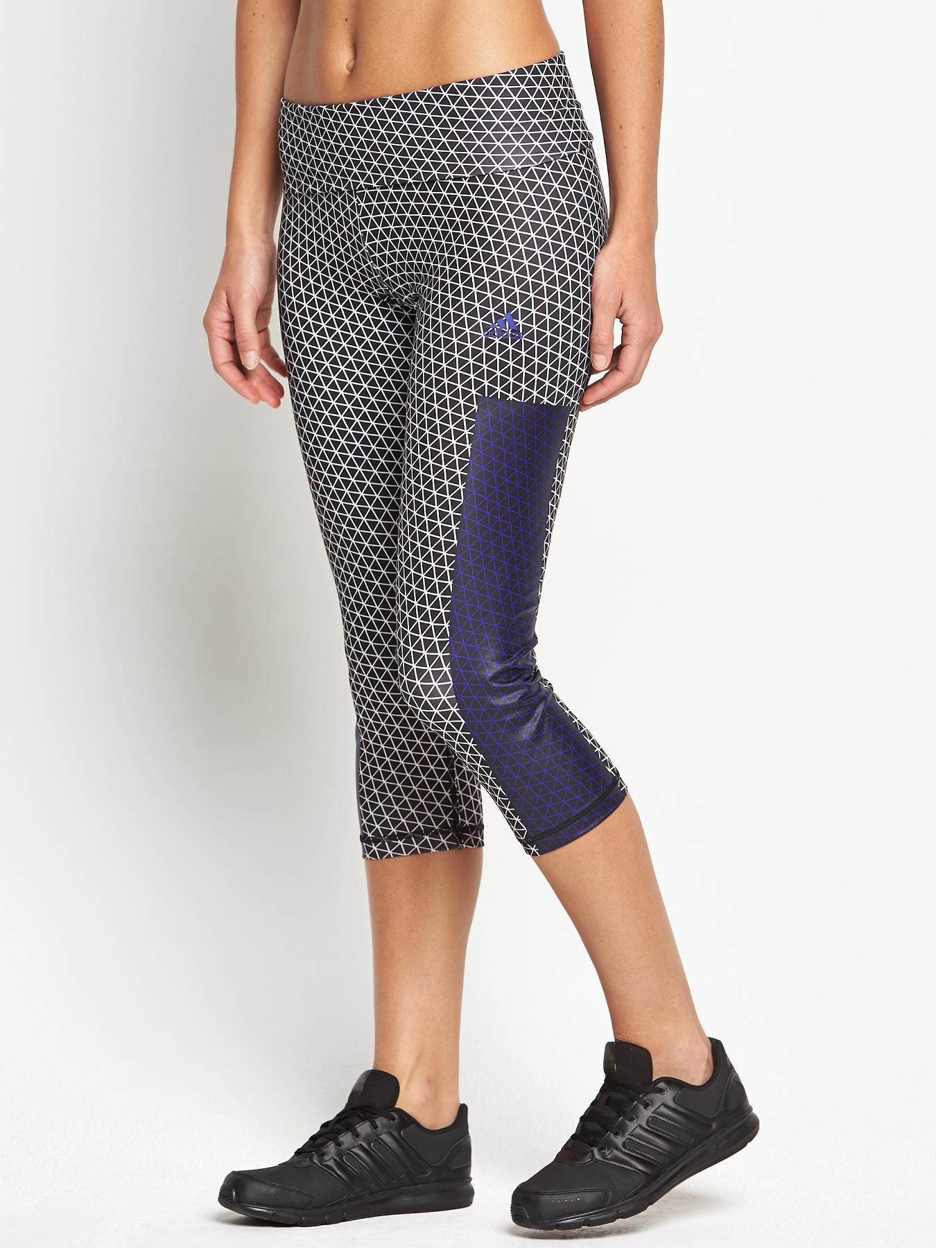 adidas High Waisted Geo Printed Capri Tights