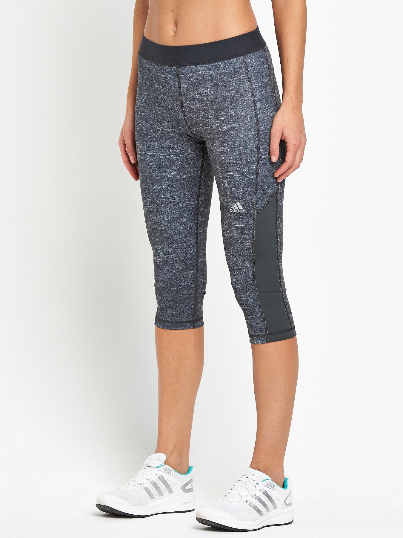 adidas Fuse Techfit Three-Quarter Tights - Grey, Grey