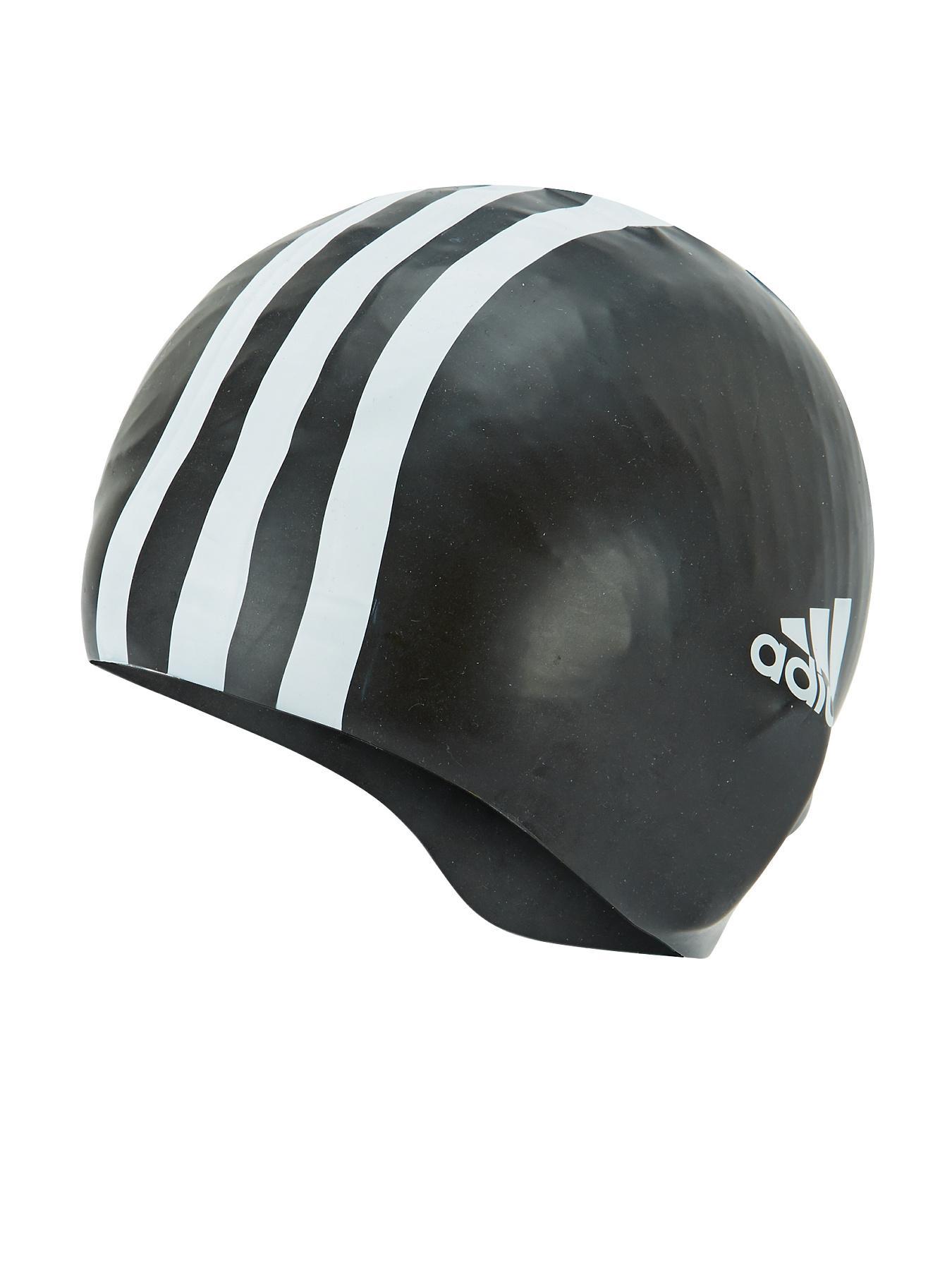 adidas 3S Swim Cap - Black, Black