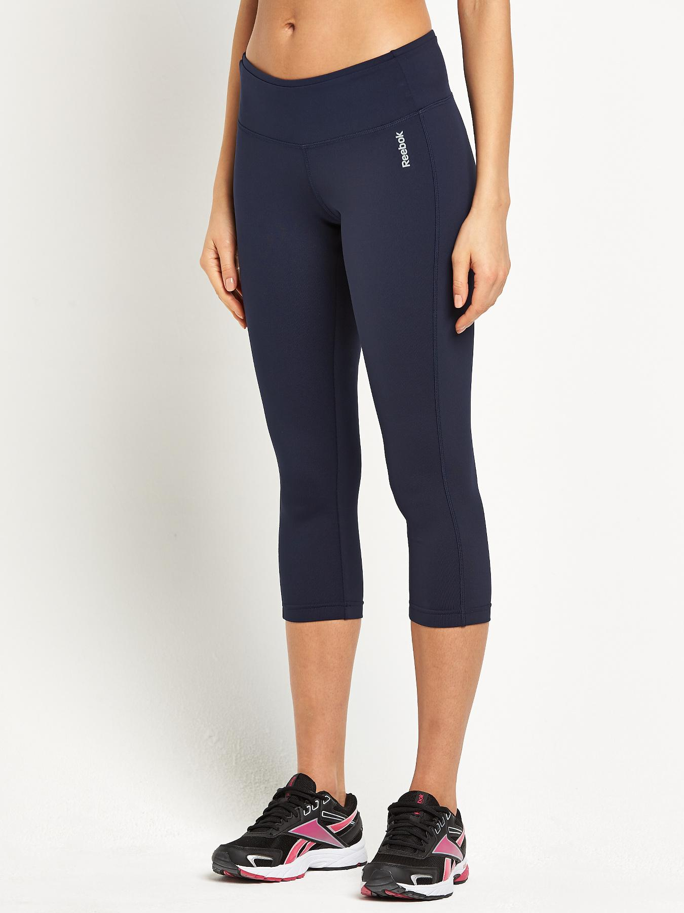 Reebok Essentials Three-Quarter Capris - Navy, Navy