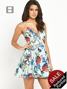 ax-paris-tropical-floral-strappy-skater-dress