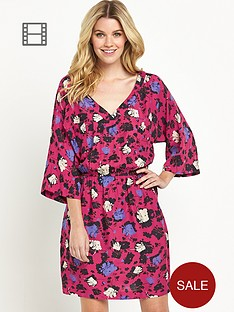 south-batwing-floral-print-dress