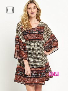 south-printed-smock-dress