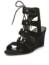 Khristie Low Wedge Gladiator Sandals