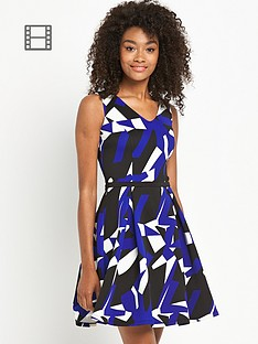 definitions-printed-scuba-skater-dress