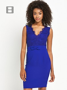 definitions-bow-front-lace-dress