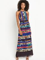 Tall Printed Lace Detail Maxi Dress