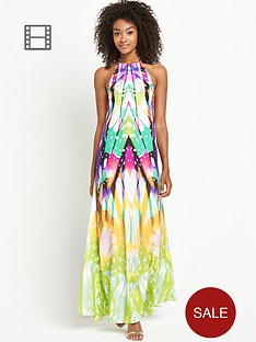 definitions-petite-halter-neck-printed-maxi-dress