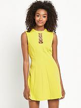 Gold Trim 60s Dress
