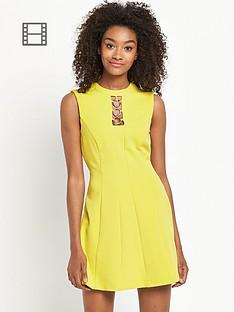 definitions-gold-trim-60s-dress