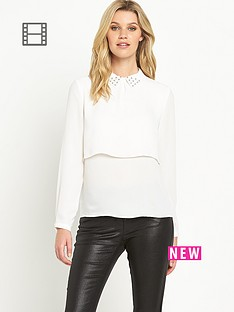 definitions-embellished-collar-blouse
