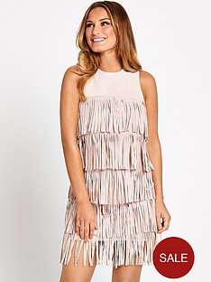 samantha-faiers-suede-fringe-dress