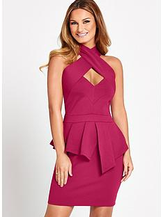 samantha-faiers-cross-front-peplum-dress