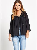 Lace Yoke Edge to Edge Top