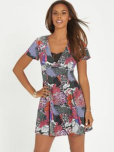 rochelle-humes-printed-dress-with-lace-insert