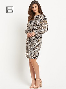 savoir-printed-satin-dress