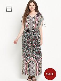 so-fabulous-cold-shoulder-border-print-jersey-maxi-dress