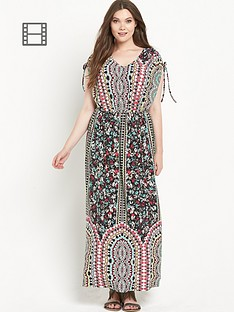 so-fabulous-cold-shoulder-border-print-jersey-maxi-dress