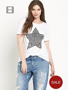 so-fabulous-star-print-turn-back-cuff-t-shirt