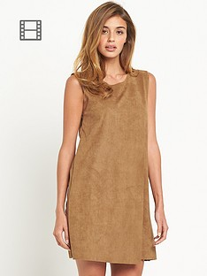 vero-moda-faux-suede-shift-dress
