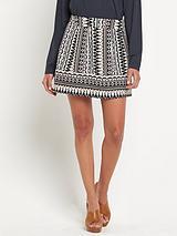 Lulu Skater Print Skirt
