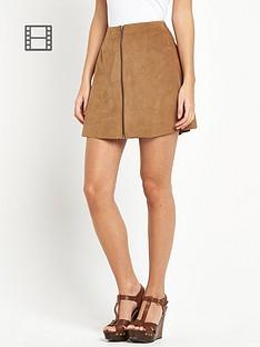 vero-moda-faux-suede-skirt