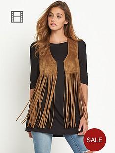 vila-vitulle-faux-suede-fringe-waistcoat