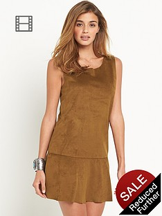 vila-vitulle-faux-suede-dress