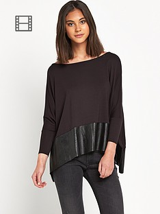 replay-slouchy-leather-finish-top