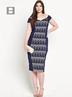 little-mistress-curve-panelled-embroidered-midi-dress