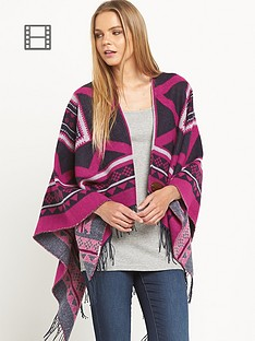 superdry-kaya-blanket-lauren-navy