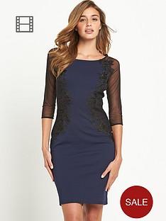 lipsy-sheer-sleeved-lace-dress