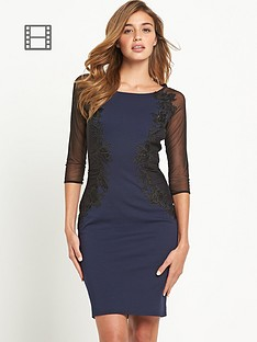 lipsy-sheer-sleeved-lace-dress