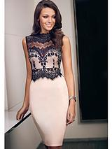 Michelle Keegan Lace High Neck Bodycon