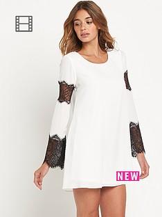 lipsy-lace-sleeved-insert-swing-dress